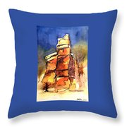 Rocks Of Lovett Throw Pillow