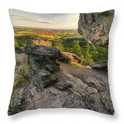 Rocks Of Sharon Overlook Throw Pillow