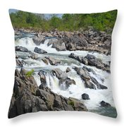Rocks Of The Potomac Throw Pillow