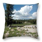 Rocks Of Tuolumne Meadows Throw Pillow