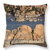 Rocks Of Watson Lake  Throw Pillow