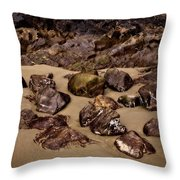 Rocks On The Beach Throw Pillow