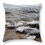 Rocks On The Chesapeake Throw Pillow