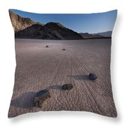 Rocks On The Racetrack Death Valley Throw Pillow