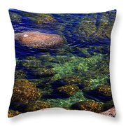 Rocks Ripples And Reflections Throw Pillow