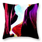 Rocks, Sunlight And Magical Colors Throw Pillow