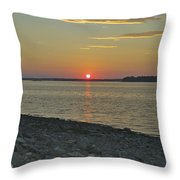Rocks Watch The Sunset Throw Pillow