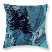 Rocksntrees Abstract Throw Pillow