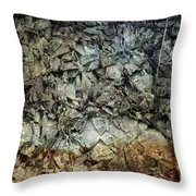 Rocky Abstraction Throw Pillow