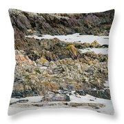 Rocky And Sandy Beach Throw Pillow