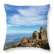 rocky Australian mountain summit Throw Pillow