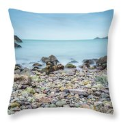 Rocky Beach Throw Pillow by James Billings