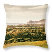 Rocky Capes And Rugged Coasts Throw Pillow
