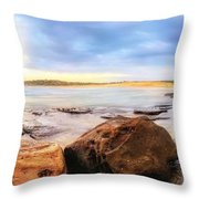 Rocky Cliffs Throw Pillow