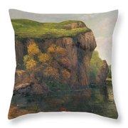 Rocky Cliffs Throw Pillow