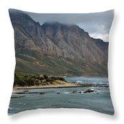 Rocky Coast Line Throw Pillow