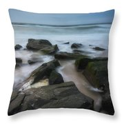 Rocky Coast Of New Jersey Throw Pillow