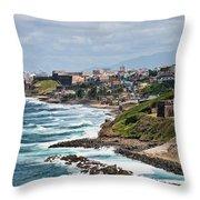 Rocky Coast Of Puerto Rico Throw Pillow