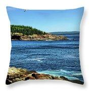 Rocky Coastline 3 Throw Pillow