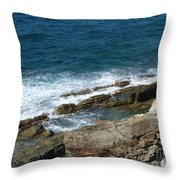 Rocky Coastline Throw Pillow
