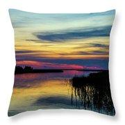 Rocky Creek Sunset Throw Pillow