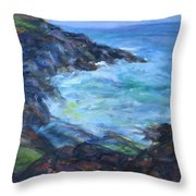 Rocky Creek Viewpoint Throw Pillow