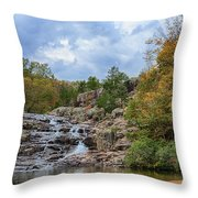 Rocky Falls In The Fall Throw Pillow