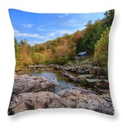Rocky Falls Near Klepzig Mill Throw Pillow
