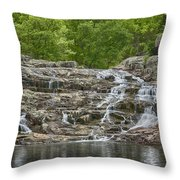 Rocky Falls Ozark National Scenic Riverways Dsc02788 Throw Pillow
