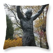 Rocky In The Fall Throw Pillow