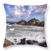 Rocky Island Throw Pillow