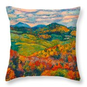 Rocky Knob In Fall Throw Pillow