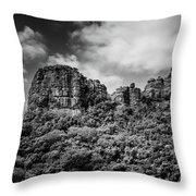 Rocky Landscape Throw Pillow