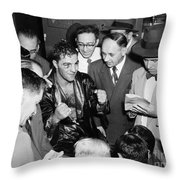 Rocky Marciano (1924-1969) Throw Pillow by Granger