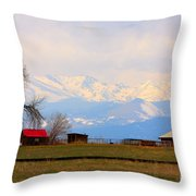 Rocky Mountain Boulder County View Throw Pillow