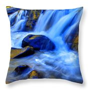 Rocky Mountain Cascade Throw Pillow