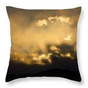Rocky Mountain Continental Divide Sunset Throw Pillow