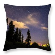 Rocky Mountain Falling Star Throw Pillow