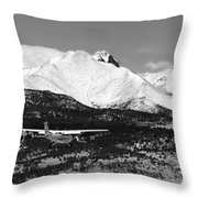Rocky Mountain Flying  Throw Pillow