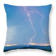Rocky Mountain Front Range Foothills Lightning Strikes 1 Throw Pillow