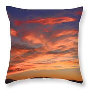 Rocky Mountain Front Range Sunset Throw Pillow