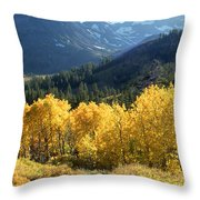 Rocky Mountain High Colorado - Landscape Photo Art Throw Pillow