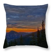 Rocky Mountain High Sunrise Throw Pillow