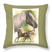 Rocky Mountain Horse Throw Pillow
