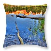 Rocky Mountain Lake Throw Pillow
