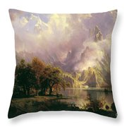 Rocky  Mountain  Landscape Throw Pillow