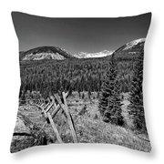 Rocky Mountain National Park Black And White Throw Pillow