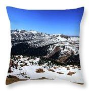 Rocky Mountain National Park Pano 2 Throw Pillow