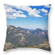 Rocky Mountain National Park Panoramic Throw Pillow