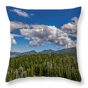 Rocky Mountain Overlook Throw Pillow